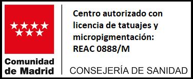 Logo Centro autorizado con licencia de tatuajes y micropigmentación